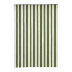 SOFIA fabric, broad-striped, green/white Weight.: 280 g/m² Width: 150 cm Area: 1.50 m²