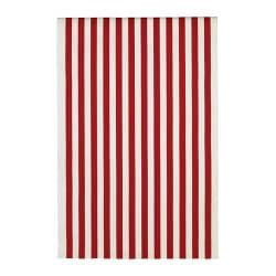 SOFIA fabric, red/white, broad-striped Width: 150 cm Pattern repeat: 64 cm