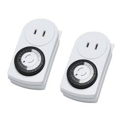 TÄNDA timer, 24 hours, ungrounded white, indoor Package quantity: 2 pack Package quantity: 2 pack
