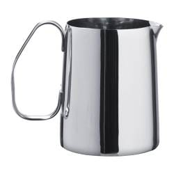 "MÅTTLIG milk-frothing jug, stainless steel Height: 4 "" Volume: 17 oz Height: 11 cm Volume: 0.5 l"
