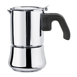 RÅDIG espresso maker for 3 cups, stainless steel Diameter: 9 cm Height: 14 cm Volume: 15 cl