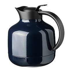 "SLUKA vacuum flask, dark blue Height: 8 "" Volume: 30 oz Height: 20 cm Volume: 0.9 l"