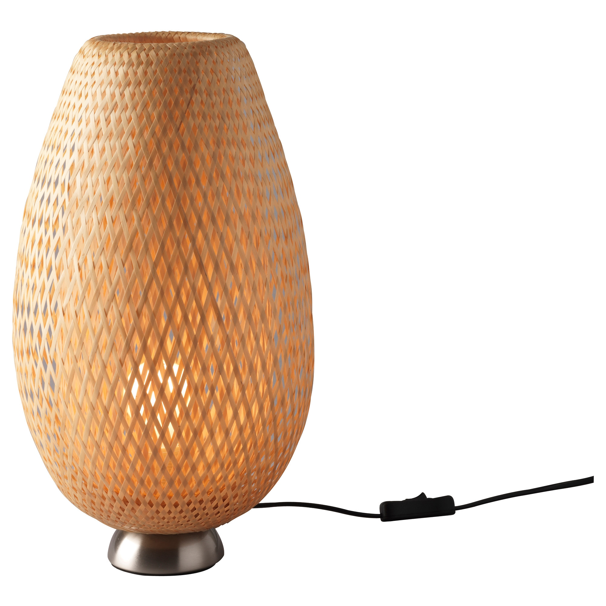 BÖJA Table lamp with LED bulb - IKEA for Bamboo Lamp Shade Ikea  146hul