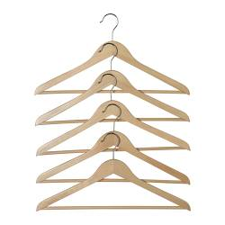 HOPA clothes-hanger, eucalyptus Width: 43 cm Thickness: 11 mm Package quantity: 5 pieces