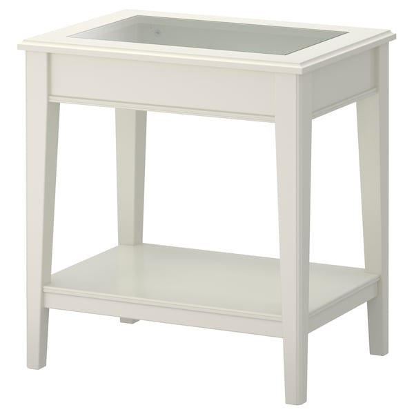 Side Table Liatorp White Glass