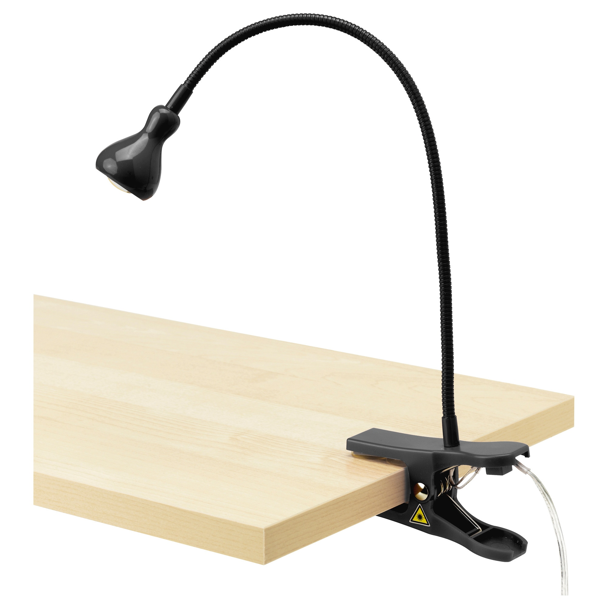 ikea jansjo black clip on adjustable led work light new ebay. Black Bedroom Furniture Sets. Home Design Ideas
