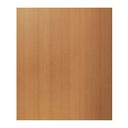 "ÄDEL front for integrated appliances, beech veneer, beech Width: 29 7/8 "" Height: 40 1/4 "" Thickness: 3/4 "" Width: 75.8 cm Height: 102.1 cm Thickness: 1.8 cm"