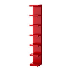 LACK wall shelf unit, red Width: 30 cm Depth: 28 cm Height: 190 cm