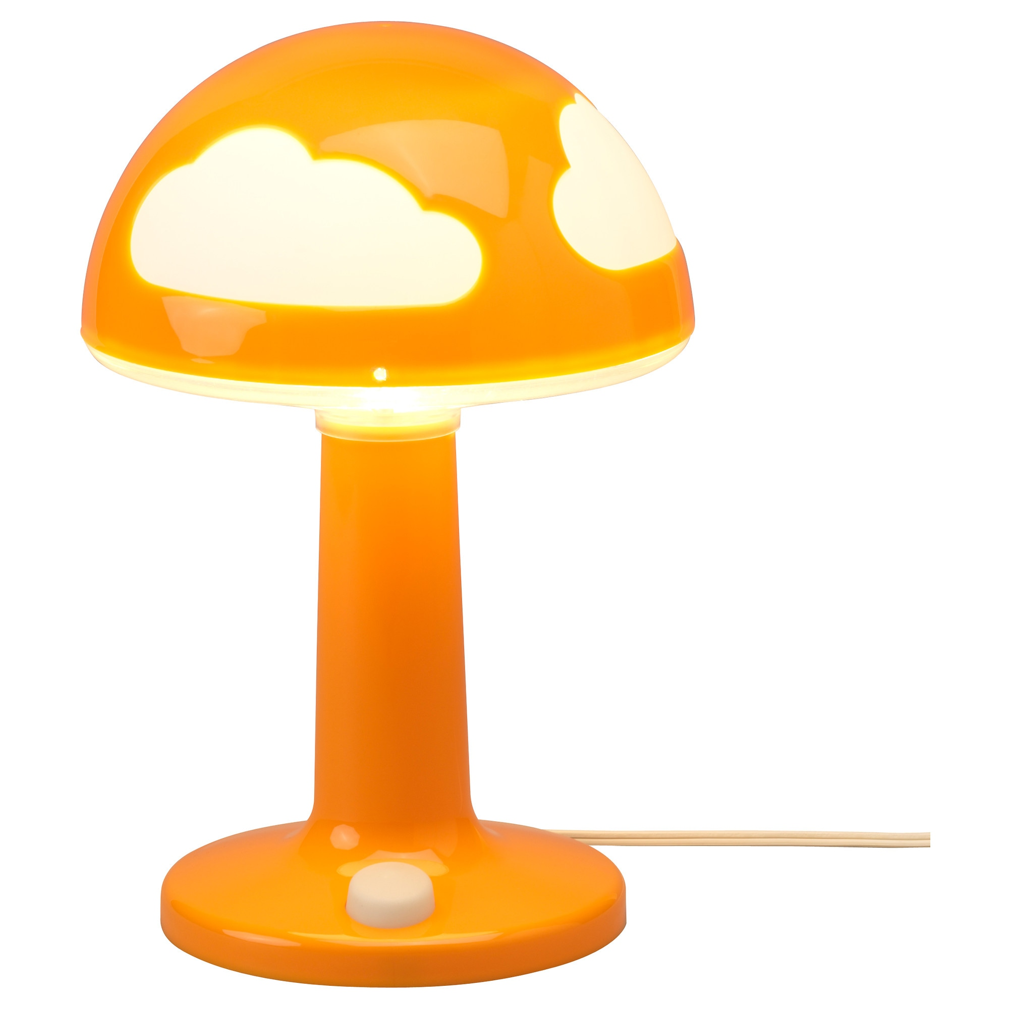 Childrens lighting ikea skojig table lamp orange height 12 diameter 8 cord length geotapseo Images