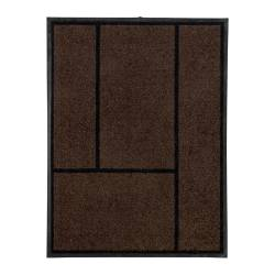"KÖGE door mat, black, brown Length: 2 ' 11 "" Width: 2 ' 3 "" Surface density: 8 oz/sq ft Length: 90 cm Width: 69 cm Surface density: 2340 g/m²"