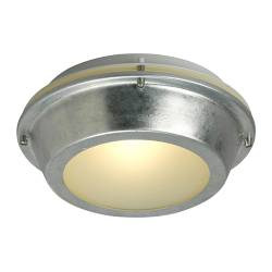 UPPLID ceiling/wall lamp, galvanised, outdoor Diameter: 25 cm Height: 10 cm