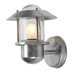 UPPLID wall lamp, galvanised, outdoor Width: 21.5 cm Height: 25 cm Base diameter: 13 cm