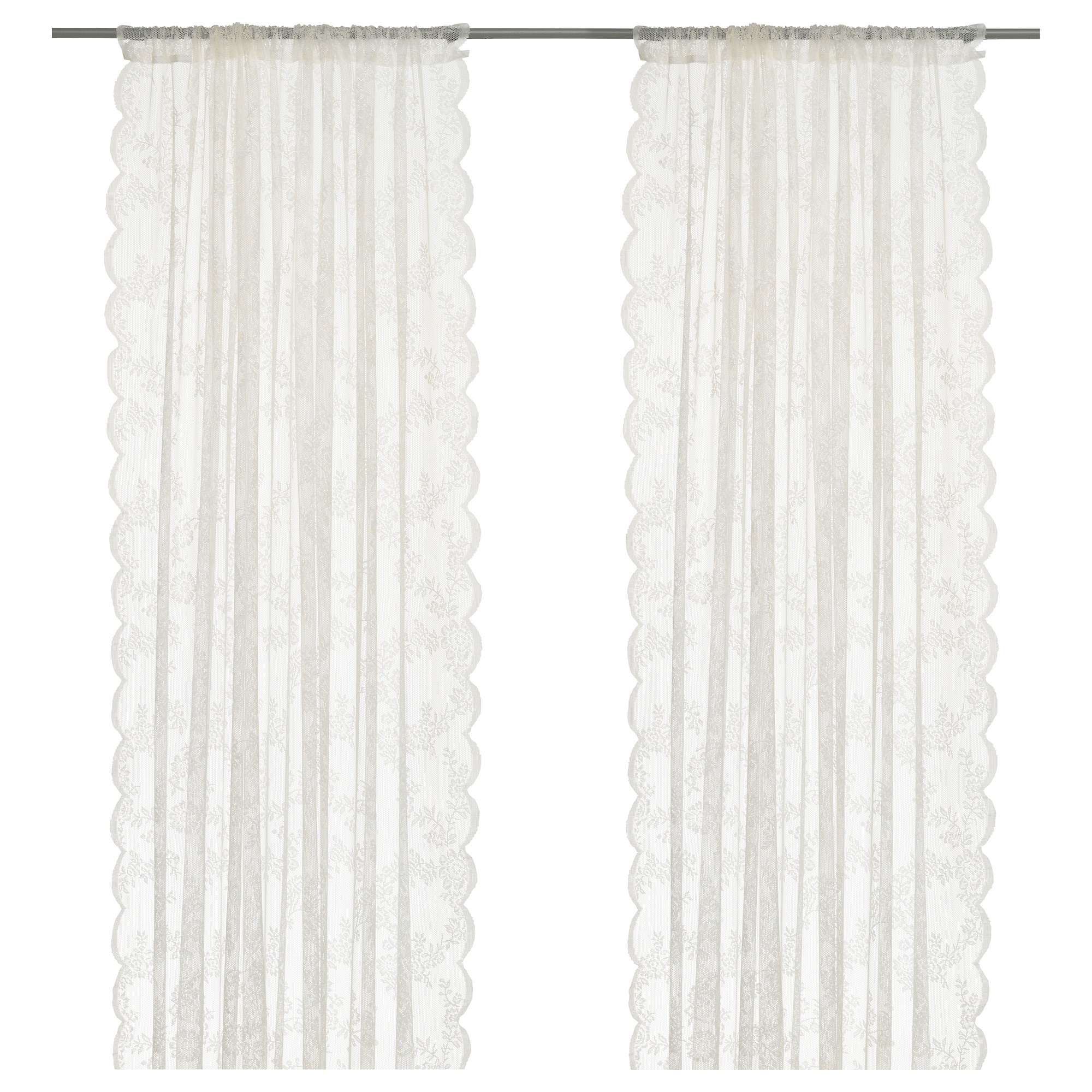 Lace Sheers Alvine Spets Lace Curtains 1 Pair Ikea