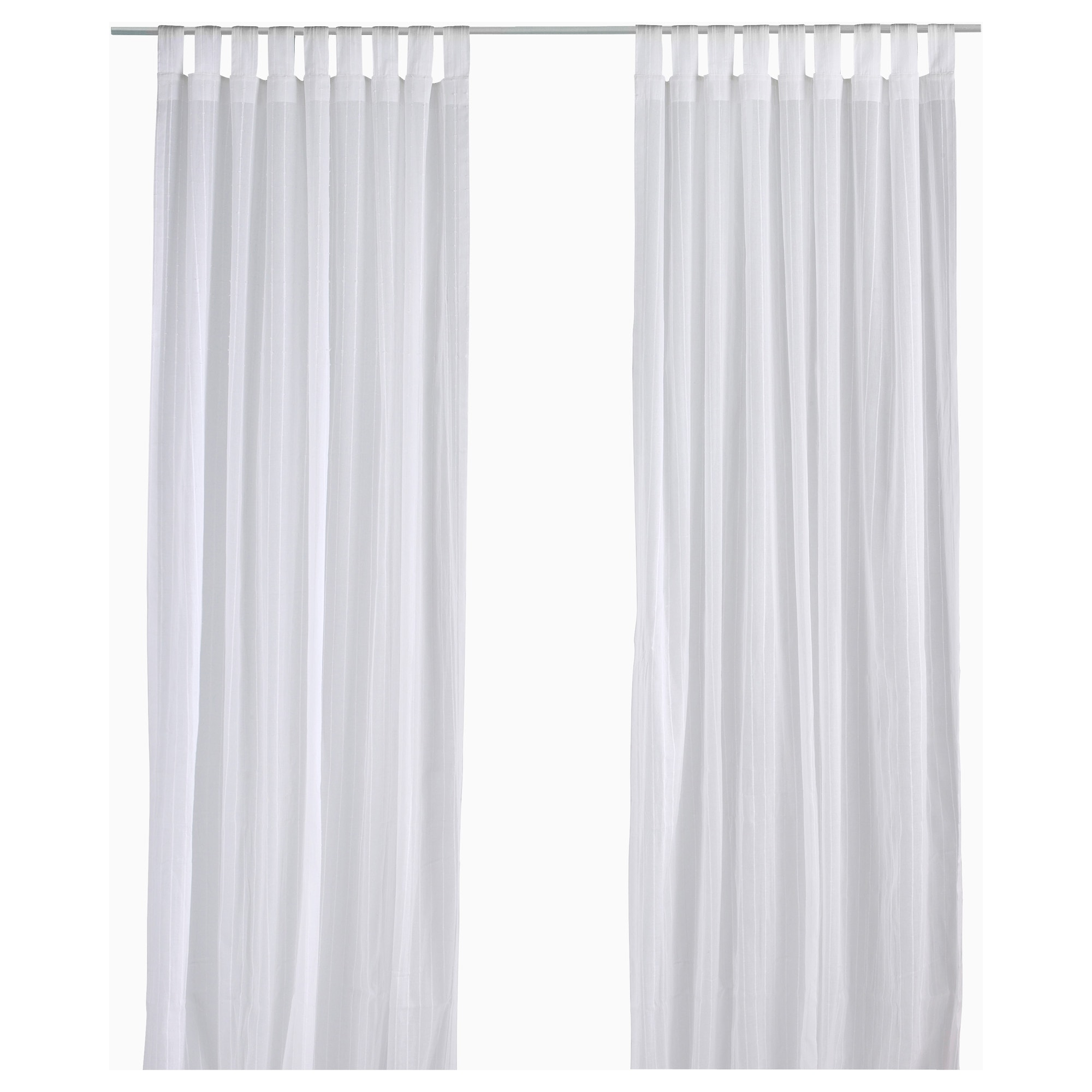 White curtain panels - Matilda Sheer Curtains 1 Pair White Length 98 Width 55