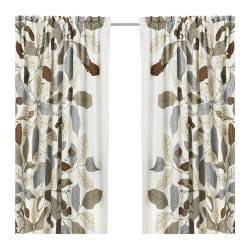 "IKEA STOCKHOLM BLAD Pair of curtains brown Length: 98 "" Width: 57 "" Weight: 6 lb 3 oz  Length: 250 cm Width: 145 cm Weight: 2.80 kg"