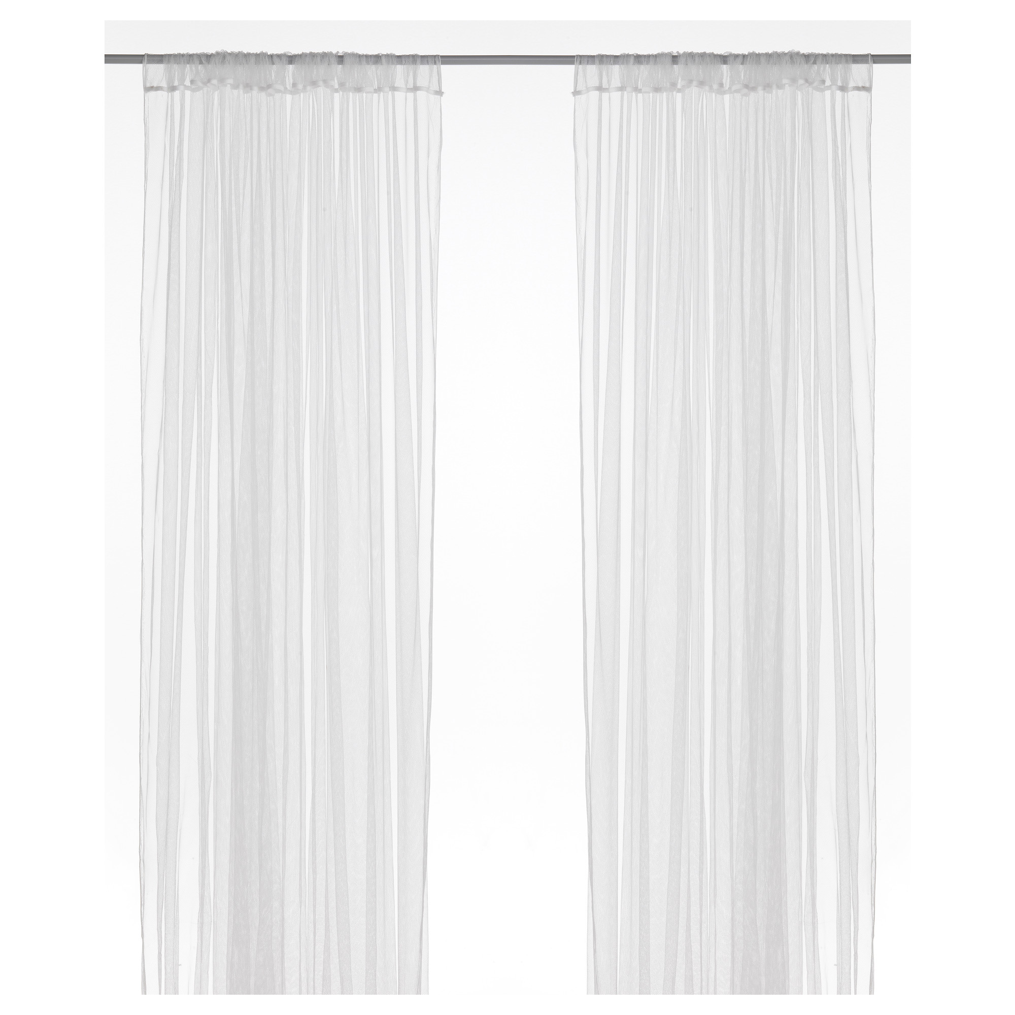 lill lace curtains 1 pair ikea - White Sheer Curtains