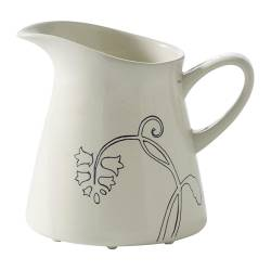 ÖDMJUK milk/cream jug, blue, off-white Height: 10 cm Volume: 30 cl