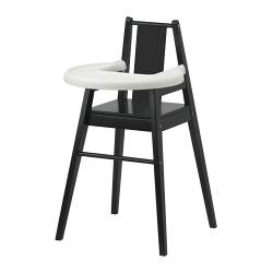 BLÅMES highchair with tray, black Width: 51 cm Depth: 54 cm Height: 93 cm