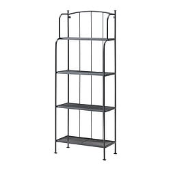LÄCKÖ shelving unit, outdoor, gray