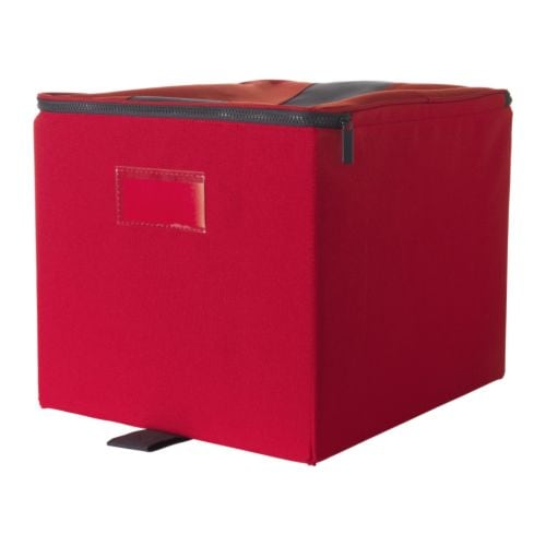 ikea flort expedit bookcase storage box with lid red. Black Bedroom Furniture Sets. Home Design Ideas