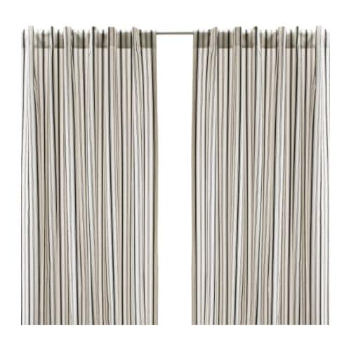 Black White Striped Curtains Curtains Blinds