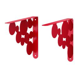 "EKBY MÅNS bracket, red Depth: 11 "" Max. load: 33 lb Package quantity: 2 pack Depth: 28 cm Max. load: 15 kg Package quantity: 2 pack"