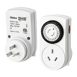 TÄNDA timer, 24 hours, earthed white, indoor Package quantity: 2 pack