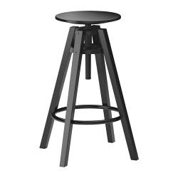 DALFRED bar stool, black Tested for: 110 kg Seat diameter: 30 cm Width: 37 cm
