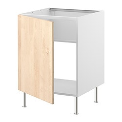 FAKTUM base cabinet for sink, Nexus birch veneer Width: 59.8 cm Depth: 60.0 cm Height: 86.0 cm