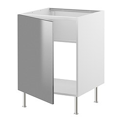 FAKTUM base cabinet for sink, Rubrik stainless steel Width: 59.8 cm Depth: 60.0 cm Height: 86.0 cm