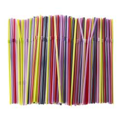 SODA drinking straw, assorted colors Package quantity: 200 pack Package quantity: 200 pack