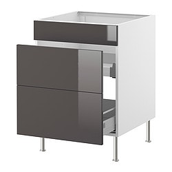 FAKTUM Base cb f snk ut w drawers/2 fronts $260