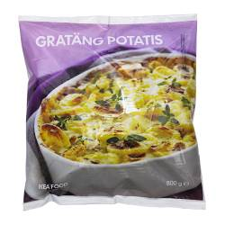 GRATÄNG POTATIS potatoes au gratin, frozen Net weight: 800 g
