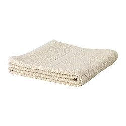 FRÄJEN bath towel, beige Length: 140 cm Width: 70 cm Surface density: 500 g/m²