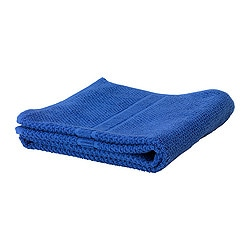 "FRÄJEN bath towel, blue Length: 55 "" Width: 28 "" Surface density: 1.64 oz/sq ft Length: 140 cm Width: 70 cm Surface density: 500 g/m²"