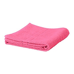 "FRÄJEN bath towel, cerise Length: 55 "" Width: 28 "" Surface density: 1.64 oz/sq ft Length: 140 cm Width: 70 cm Surface density: 500 g/m²"