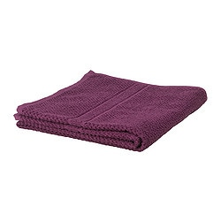 "FRÄJEN hand towel, dark lilac Length: 28 "" Width: 16 "" Surface density: 1.64 oz/sq ft Length: 70 cm Width: 40 cm Surface density: 500 g/m²"