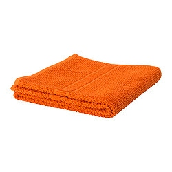 FRÄJEN hand towel, orange Length: 100 cm Width: 50 cm Surface density: 500 g/m²