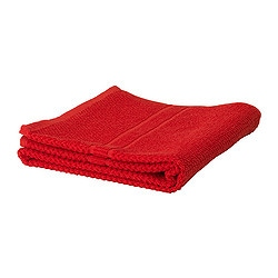 "FRÄJEN washcloth, red Length: 12 "" Width: 12 "" Surface density: 1.64 oz/sq ft Length: 30 cm Width: 30 cm Surface density: 500 g/m²"