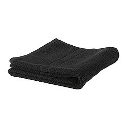 "FRÄJEN washcloth, black Length: 12 "" Width: 12 "" Surface density: 1.64 oz/sq ft Length: 30 cm Width: 30 cm Surface density: 500 g/m²"
