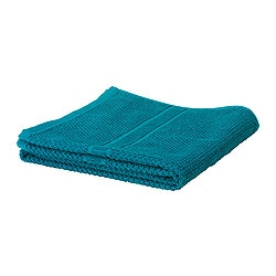 FRÄJEN bath sheet, turquoise Length: 150 cm Width: 100 cm Surface density: 500 g/m²