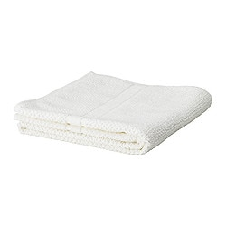"FRÄJEN bath sheet, white Length: 59 "" Width: 39 "" Surface density: 1.64 oz/sq ft Length: 150 cm Width: 100 cm Surface density: 500 g/m²"