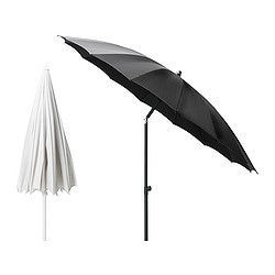 SAMSÖ parasol, assorted colours, adjustable Diameter: 250 cm Pole diameter: 38 mm Min. height: 165 cm