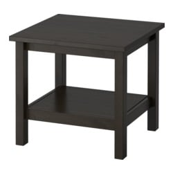 HEMNES, Side table, black-brown