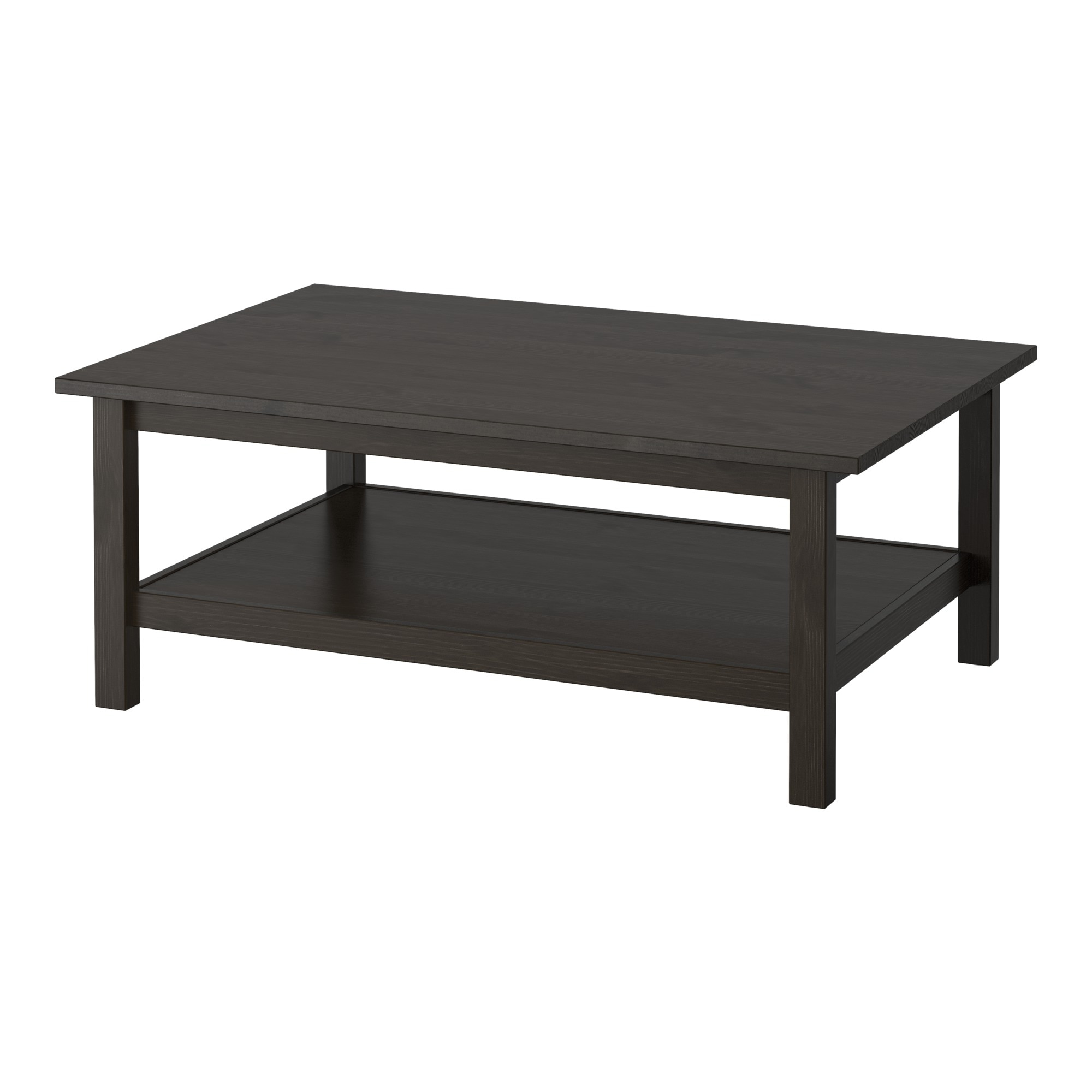 Ikea leksvik coffee table - Hemnes Coffee Table Black Brown Length 46 1 2 Width