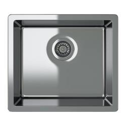 BREDSKÄR single-bowl inset sink, stainless steel Length: 52 cm Depth: 46 cm Height: 18 cm