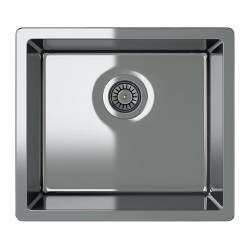 "BREDSKÄR single-bowl inset sink, stainless steel Length: 20 1/2 "" Depth: 18 1/8 "" Height: 7 1/8 "" Length: 52 cm Depth: 46 cm Height: 18 cm"