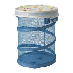 KUSINER mesh basket with lid, turquoise Diameter: 35 cm Height: 49 cm