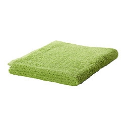 "HÄREN bath towel, green Length: 55 "" Width: 28 "" Surface density: 1.31 oz/sq ft Length: 140 cm Width: 70 cm Surface density: 400 g/m²"