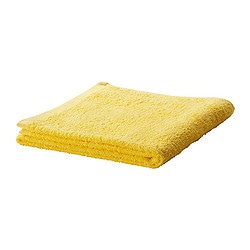 "HÄREN bath towel, yellow Length: 55 "" Width: 28 "" Surface density: 1.31 oz/sq ft Length: 140 cm Width: 70 cm Surface density: 400 g/m²"